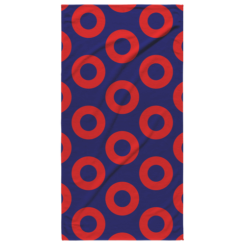 Phish Fishman Doughnut Print Beach Towel by Custeez