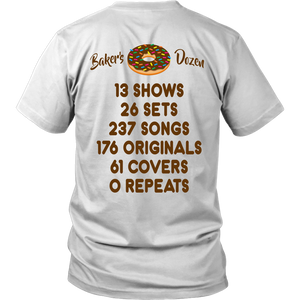 Baker's Dozen Stats Chocolate Phish Shirt by Custeez