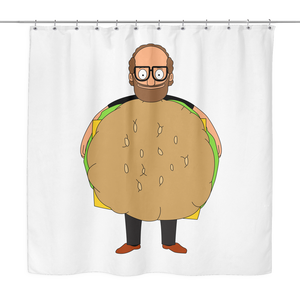 Bob's Burgers Gene Page Shower Curtain