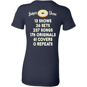 Baker's Dozen Phish Shirt with Stats by Custeez