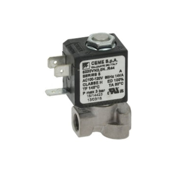 "100/120V 1/8"" F x 1/8"" F Two-Way CEME Solenoid - Coffee Addicts Canada"
