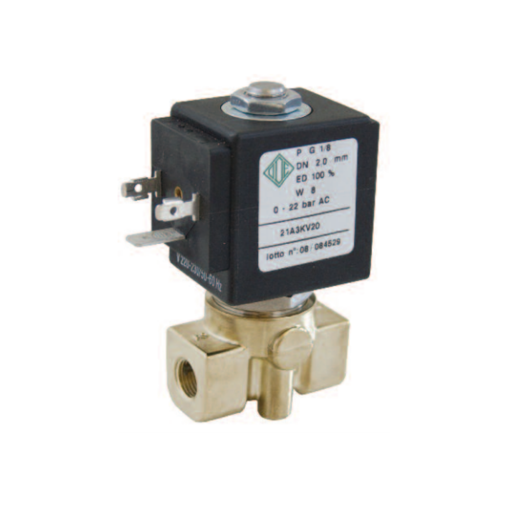 "110V 8W 1/8"" F x 1/8"" F Two-Way ODE Solenoid - Coffee Addicts Canada"