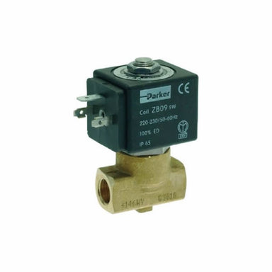 "220V 50/60HZ 9W 1/4"" X 1/4"" Two-Way Parker Solenoid - Coffee Addicts Canada"