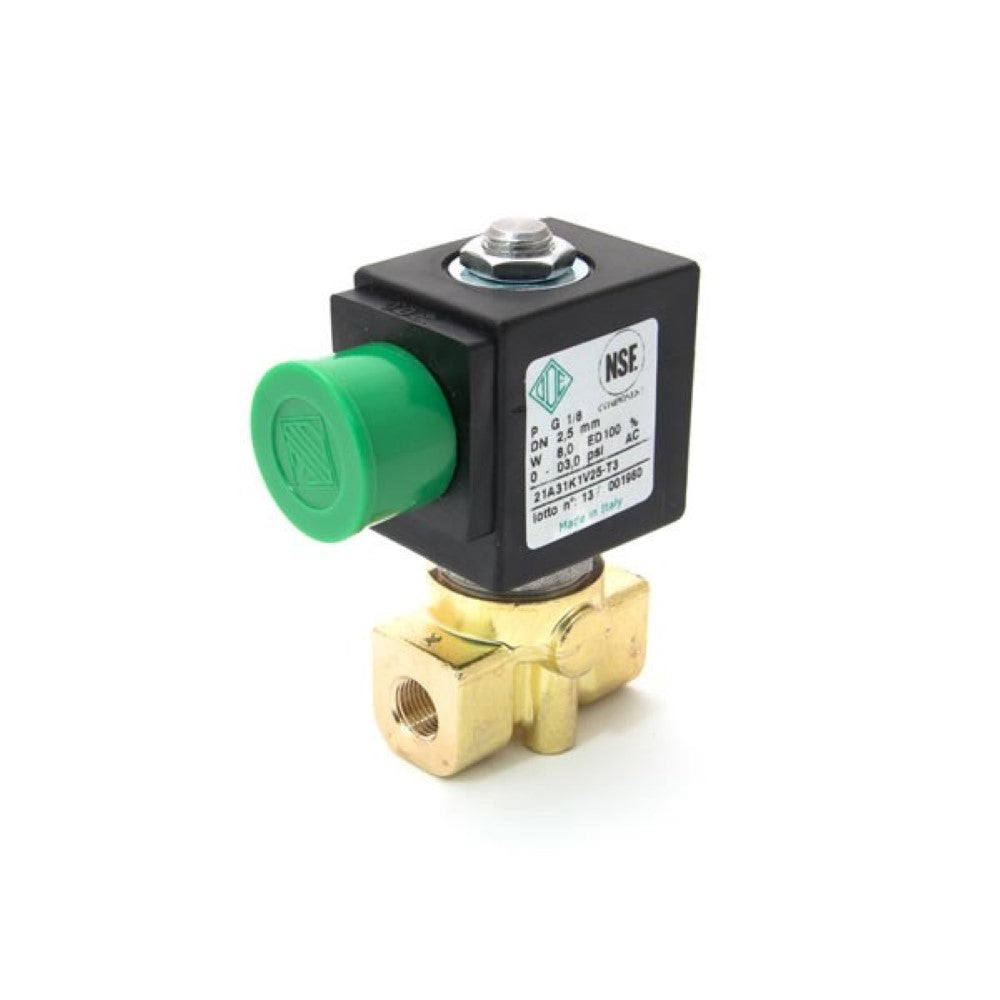 "220V 50/60Hz 8W 1/8"" F x 1/8"" F Two-way ODE Solenoid - Coffee Addicts Canada"