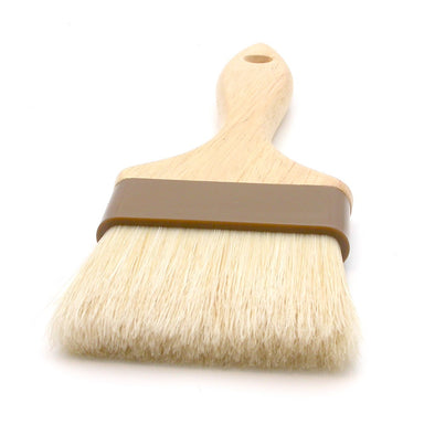 "3"" Wide Flat Brush With Wood Handle & Natural Bristles - Coffee Addicts Canada"