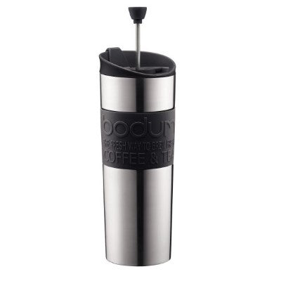 Bodum Black Stainless Steel Travel Press 15oz - Coffee Addicts Canada