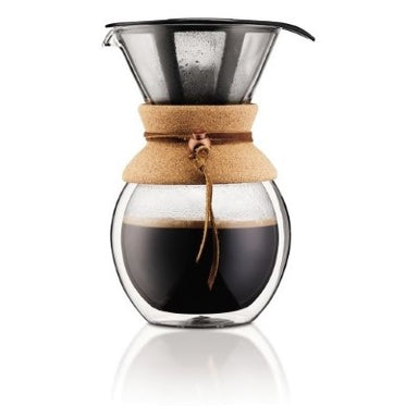 Bodum Cork Double Walled Pour Over 34oz - Coffee Addicts Canada