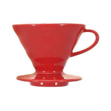 Hario V60-02 Ceramic - White or Red - Coffee Addicts Canada