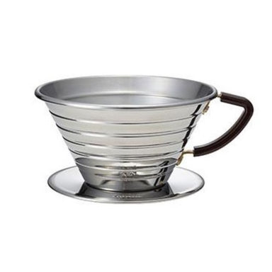 Kalita Wave 185 Dripper Stainless Steel - Coffee Addicts Canada