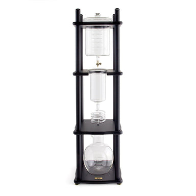 Yama Glass 25 Cup Cold Drip Maker Straight Black Wood Frame (Special Order) - Coffee Addicts Canada
