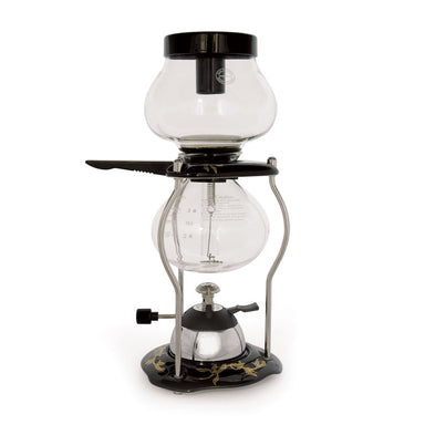 Yama Glass 5 Cup Tabletop Coffee Syphon With Butane Burner and Ceramic Base (CNT5) - Coffee Addicts Canada