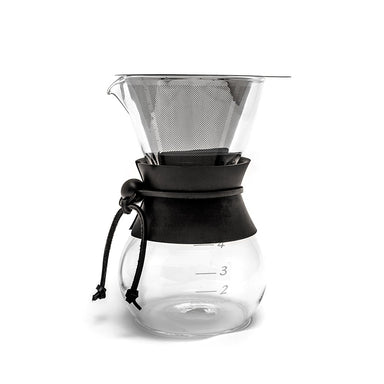 Yama Glass Coffee Drip Pot with Stainless Cone Filter - (20oz) - Coffee Addicts Canada