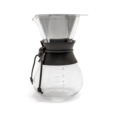 Yama Glass Coffee Drip Pot with Stainless Cone Filter - (30oz) - Coffee Addicts Canada