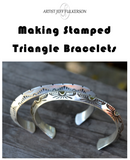 Making Stamped Triangle Bracelets