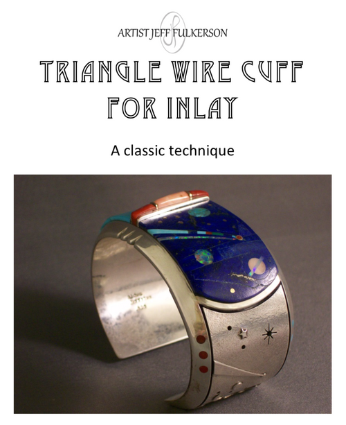 Triangle Wire Cuff for Inlay