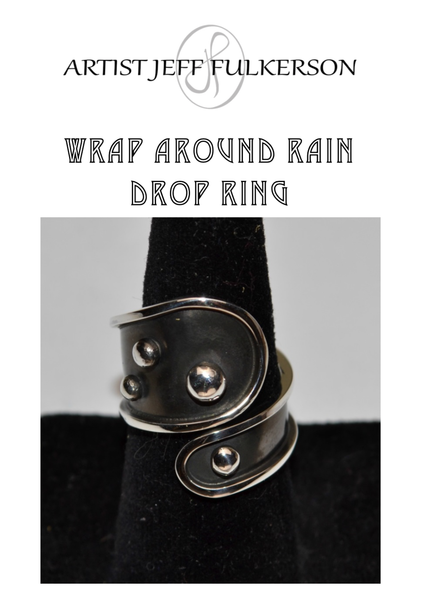 Wrap Around Rain Drop Ring