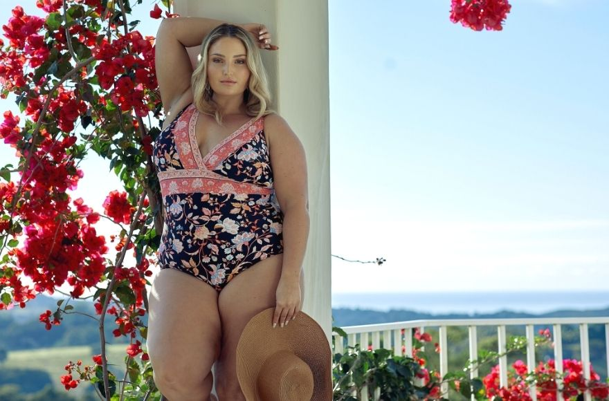Corsica floral V neck one piece swimsuit