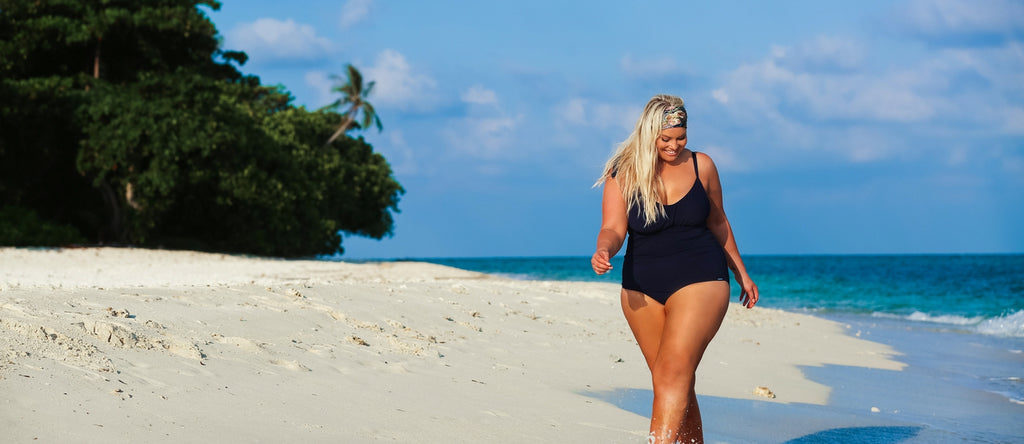 Plus Size Womens Black Swimwear