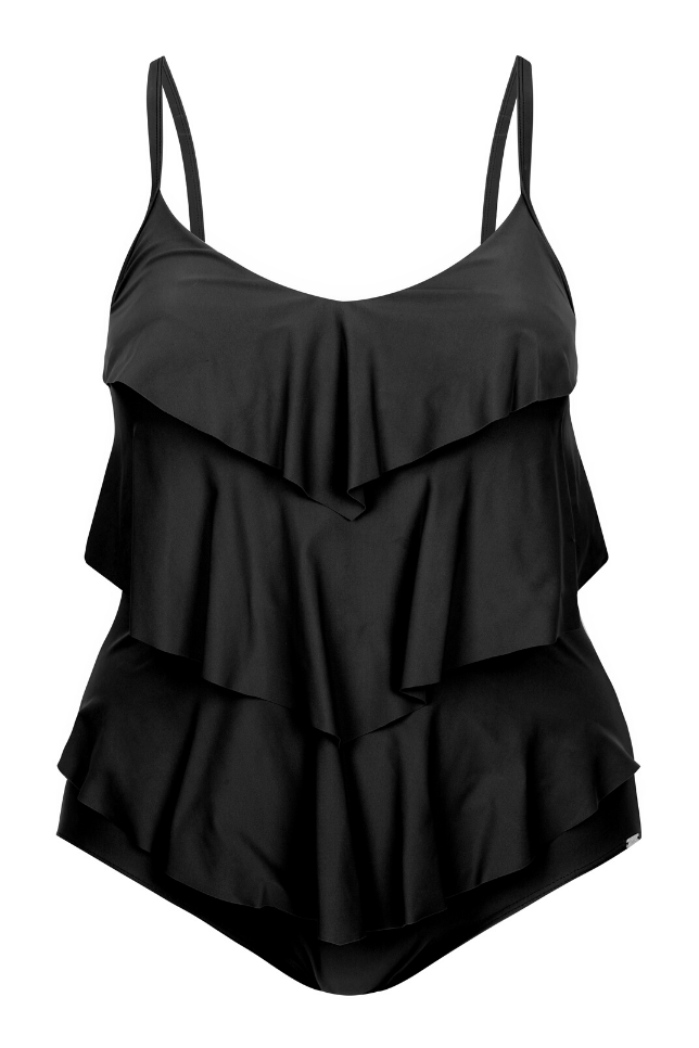 Black Tummy Control One Piece
