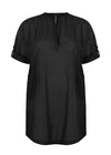 black cotton kaftan