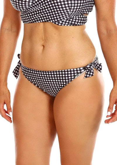 Retro Check Tie Side Swim Pant
