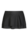 Plain Black Two Tier Skirt Bottom