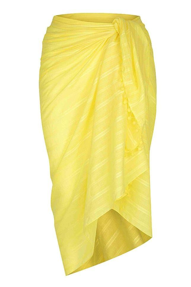 yellow cotton sarong