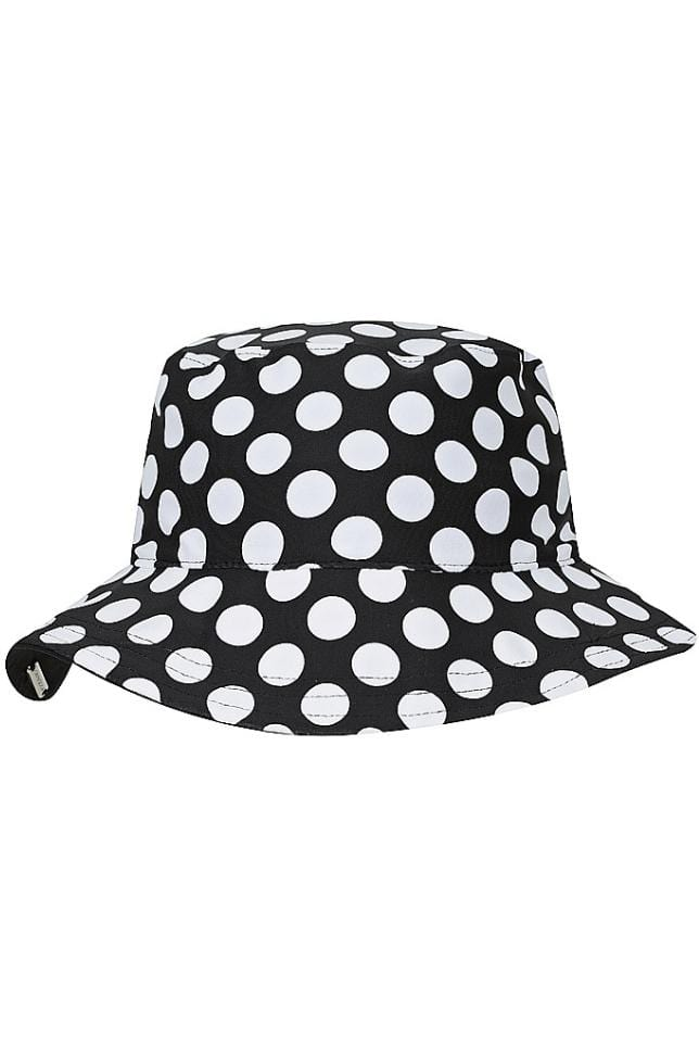 Plain Black Reversible Sun Hat
