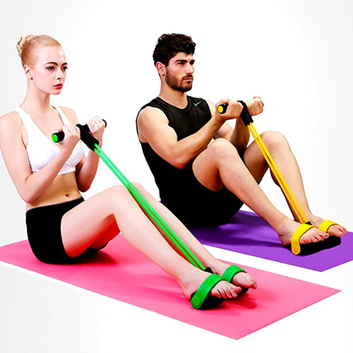 Fitness Elastic Sit Up Pull Rope Abdominal Exerciser