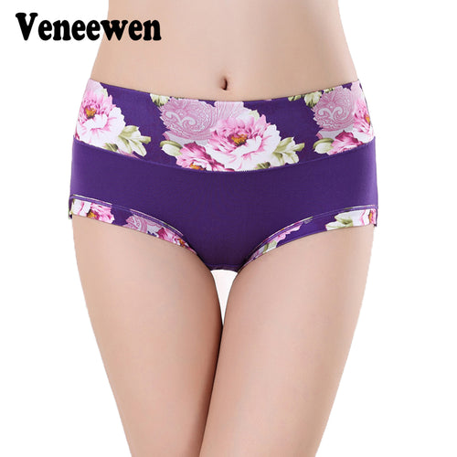 Plus Size Women Underwear Panties Ladies Seamless Sexy Briefs Floral Print Lingerie Calcinhas Intimates Underpants Ropa S-4XL