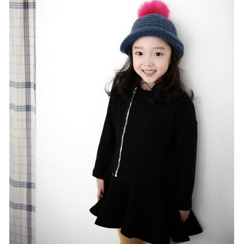 Girls Fall and Winter Large Children's Dress