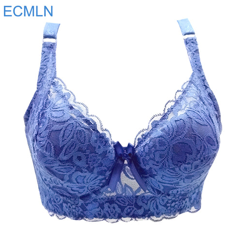 plus size wireless adjustable lace Women's bra breast cover B C D cup Large size