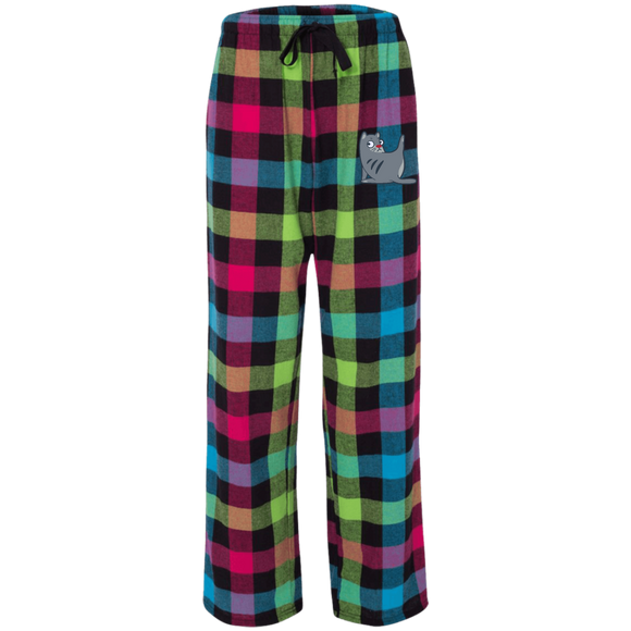 Grooming Kitty Rainbow Flannel Pants