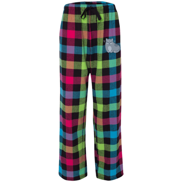 Kitty Purrs Rainbow Flannel Pants