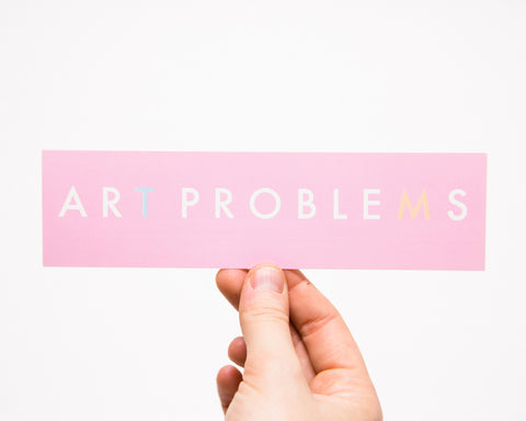 Art Problems Futura logo sticker
