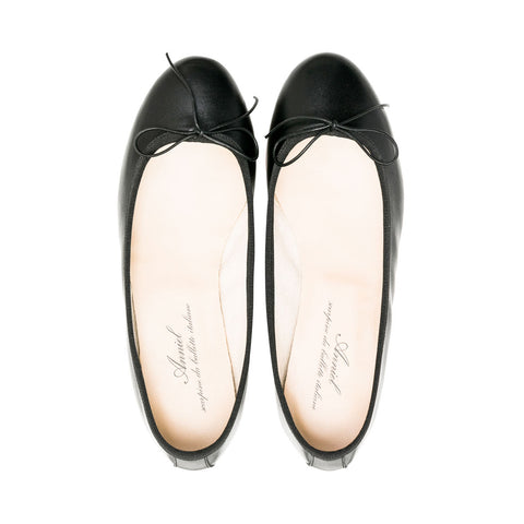 Leather Ballerina Black