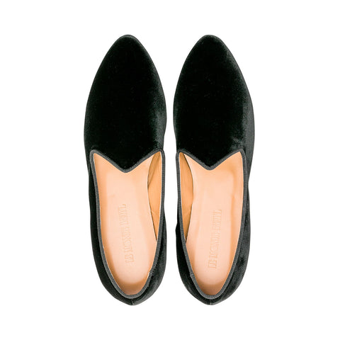 Velvet Venetian Slipper Black