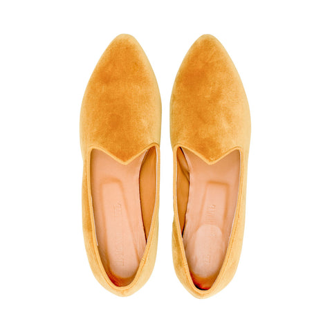 Velvet Venetian Slipper Gold