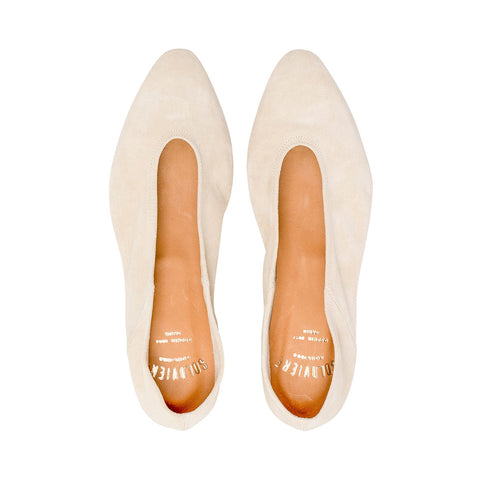 Zoe Suede Ivory