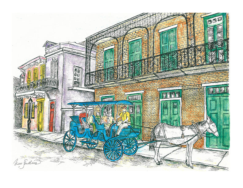 Architecture Print - French Quarter #003
