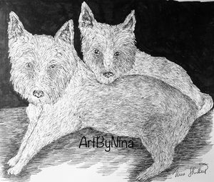 Animals - Two Westie Terriers  #307