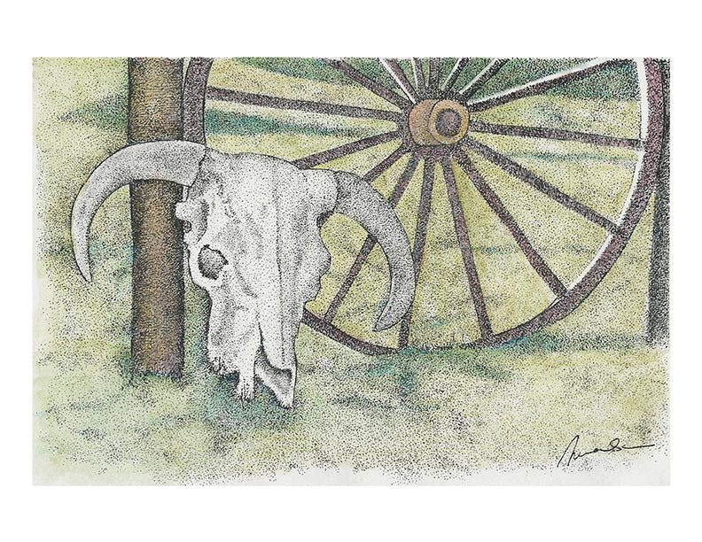 Still Life Print - Wagon Wheel #006