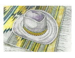 Still Life Print - Cowboy Hat on Navajo Rug #017