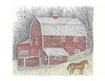 Barn Art - Winter Barn #021