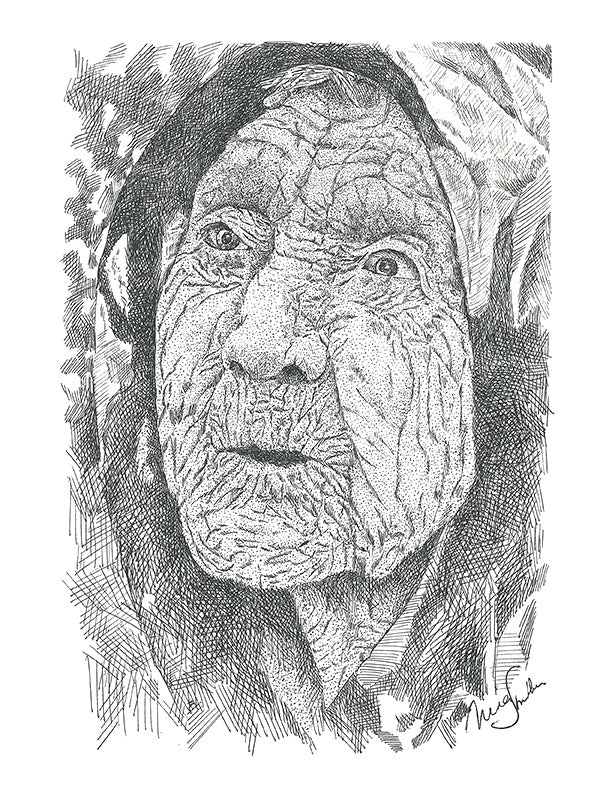 People Print - Old Crone #028