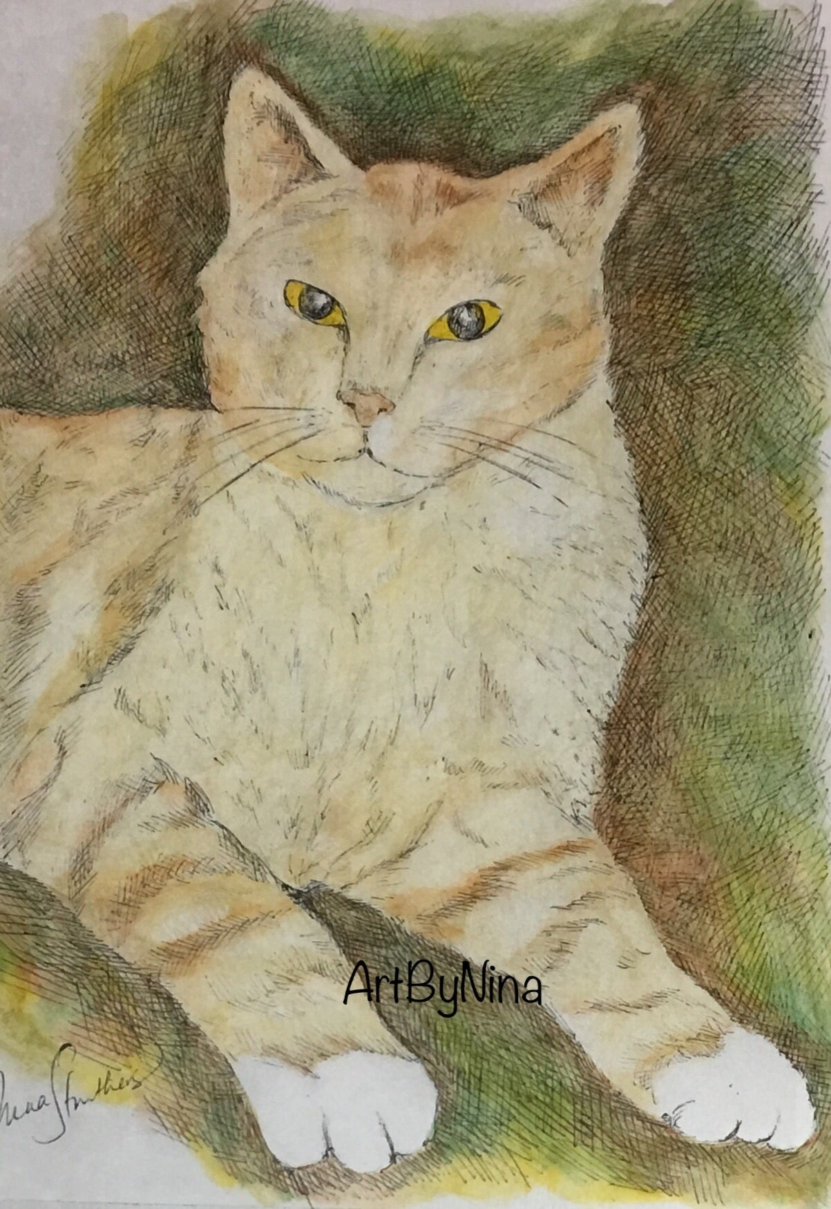 Animal Art - Ginger Cat #202