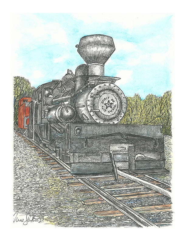 Train Print - Spirit of Texas #038