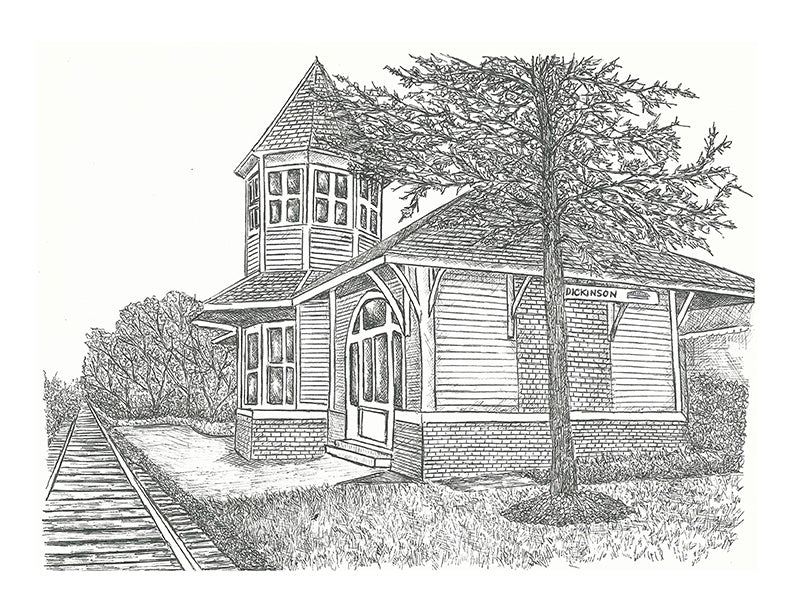 Train Print - Dickenson Train Station #047