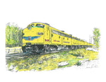 Train Print -Yellow Train #048