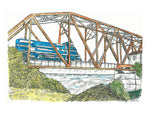 Train Print - Rail Road Bridge #050
